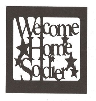 Welcome home soldier word silhouette by hilemanhouse on Etsy, $1.99