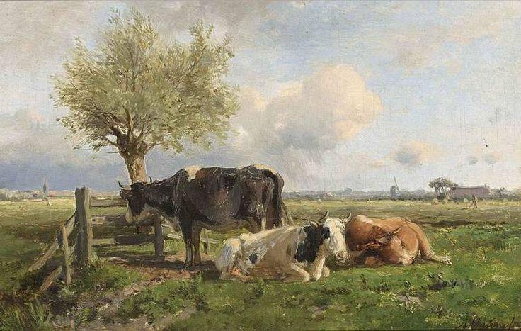 Anton Mauve - Rustende koeien