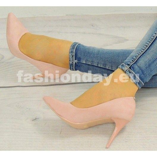 Luxusné lodičky pre dámy v svetlo ružovej farbe - fashionday.eu