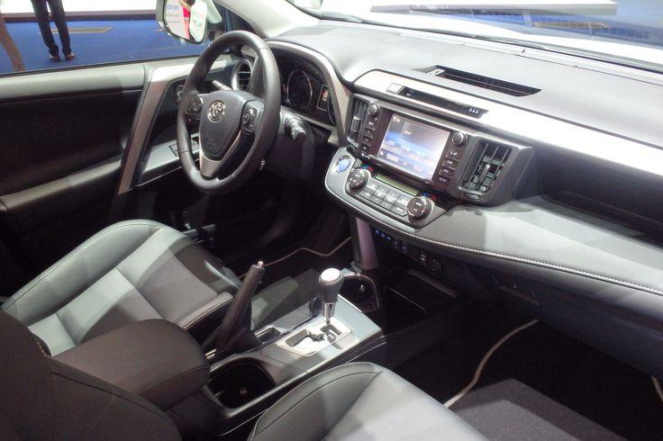 The 2016 Toyota RAV4 interior is shown at the Frankfurt motor show, adding Toyota Hybrid power, new design and upgraded equipment: http://blog.toyota.co.uk/toyota-rav4-hybrid-frankfurt. #Toyota #RAV4Hybrid #IAA2015
