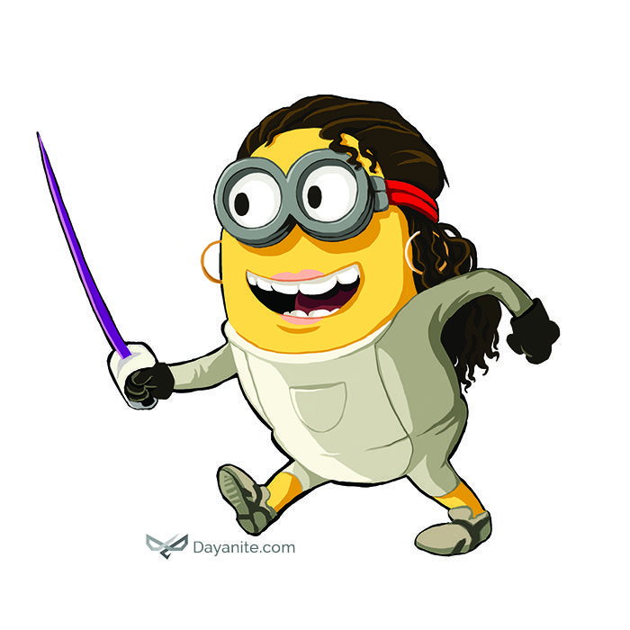Fencing Girl Minion http://dayanite.com/