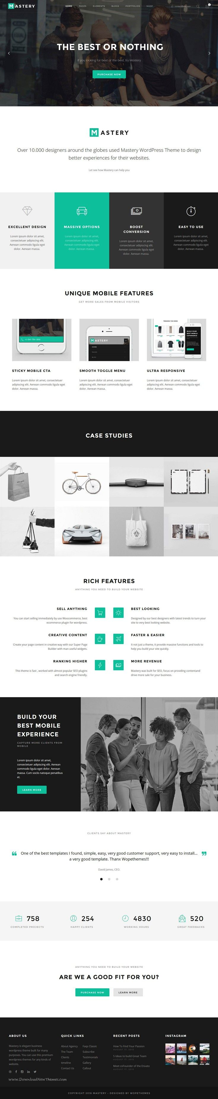 Mastery is elegant and creative business WordPress #theme with 20+ stunning homepage layouts for multipurpose responsive #website. #corporate Download Now!