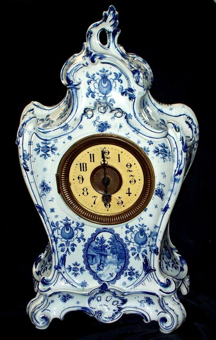 298 best porcelain clocks images on Pinterest   Antique clocks ...