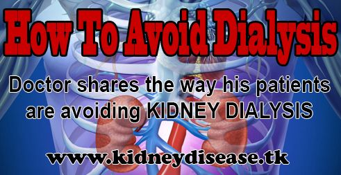 "This is how my kidney dialysis patients are healing their kidneys http://kidneydisease.tk/theprogram (click for full access to the program)   This is a program that could be extremely helpful if you have kidney disease, impaired kidney function or if you're on ""kidney dialysis"".  Read the full article here: http://kidneydisease.tk/patients-avoid-kidney-dialysis/"