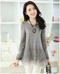 Wish   New Fashion Women lace bottoming shirt 3 colors