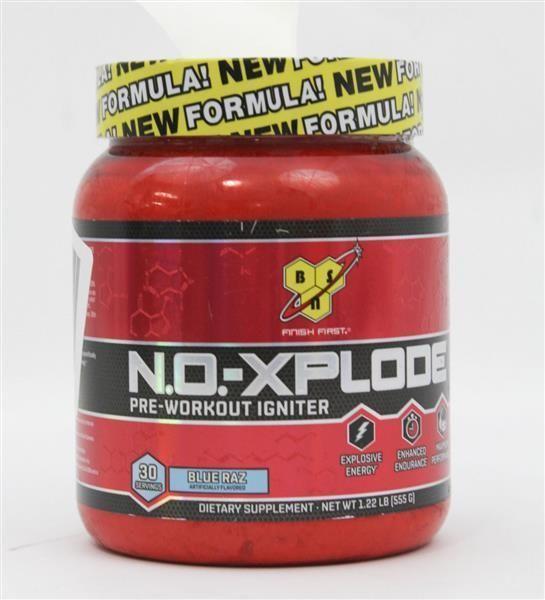 BSN N.O.-XPLODE Pre-Workout Supplement Flavor: Blue Raz 30 Servings