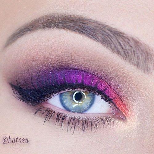 makeupbag:http://makeupbag.tumblr.com/: Electric Purple3, Katarzyna Gajewska, Eye Makeup, Beautiful Purple, Amazing Eye, Makeup Beautiful, Amazing Makeup, Green Eye, Beautiful Eye
