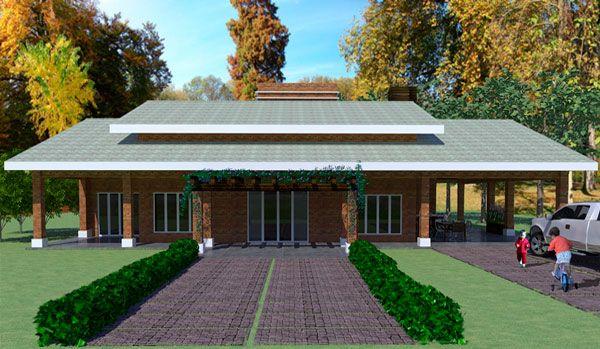 009 casa campo 228 m2 y 3 dormitorios 1 piso plano de for Modelos de casas de campo modernas