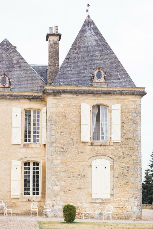 French Chateau Destination Wedding                              …