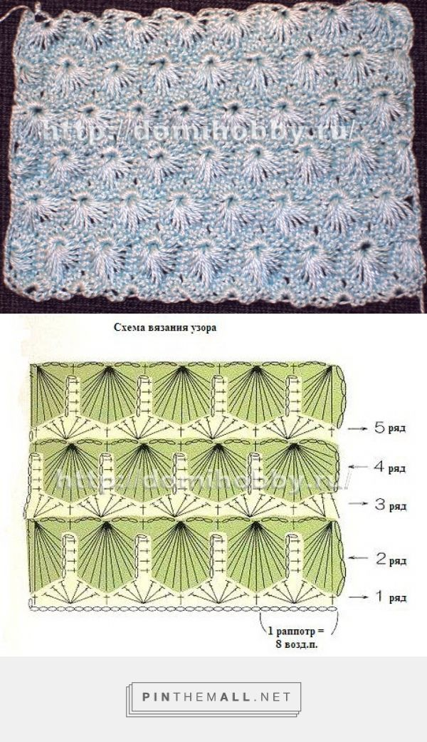 Crochet Stitch - Free Crochet Diagram And Pictorial - (domihobby)