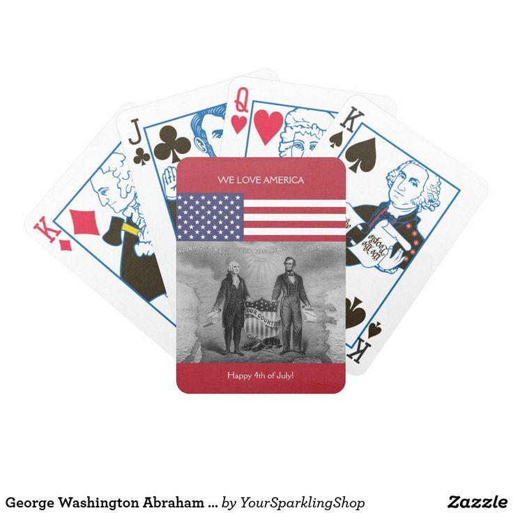 George Washington Abraham Lincoln American Flag US