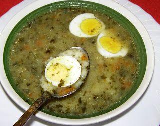 W Mojej Kuchni Lubię.. : na szybko szczawiowa zupa z makaronem gwiazdki i j...
