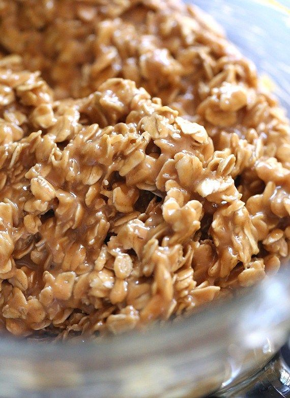 3 Ingredient NO Bake Peanut Butter Oat Bars...SO easy, only 3 ingredients!