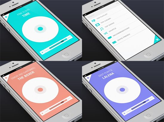 Music App UI by Eyal Zuri. 30 Beautiful Mobile UI Examples. #mobile #UI #design #inspiration