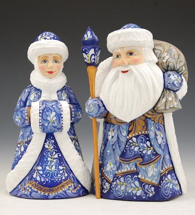 Russian Santa and Snowmaiden