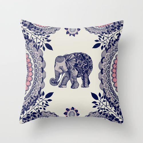 Elephant Pink Throw Pillow <3 ELEPHANT LOVE