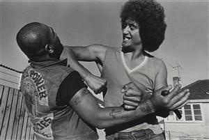 Baldie and Greeneyes, Linwood, Christchurch. From the series: Black Power, Christchurch.    Jowitt, Glennphotographer1979