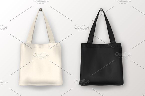 Tote bag. Vector set.  by gomolach on @creativemarket