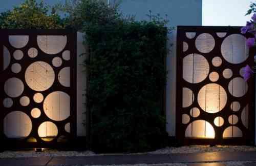 déco de clôture d'extérieur de jardin design