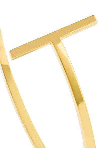 Tiffany & Co. - T Wire 18-karat Gold Hoop Earrings - one size