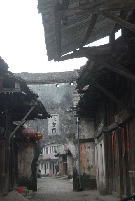 Daxu Old Town, a 2000-year-old town with well preserved traditional Chinese architectures and shiny stone streets in Nanning, Guangxi, China.