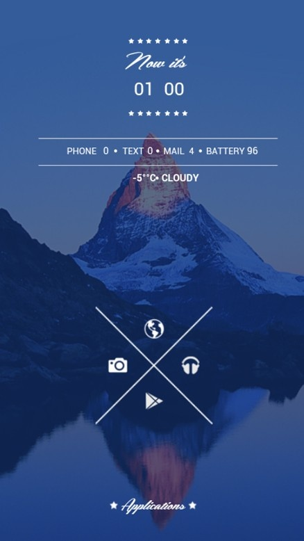 Hipster Logo On Android Homescreen