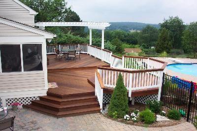 Deck And Pergola Designs Multi Level Decks Pergolas And