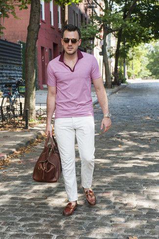 d8cd2493b3 Cómo combinar  camisa polo rosada