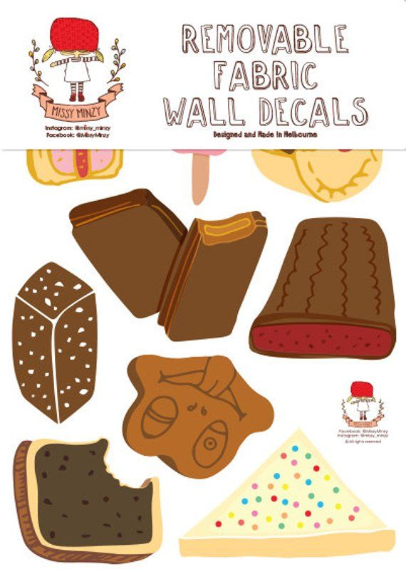 New Design Reusable Fabric Wall Stickers Australia Food Etsy