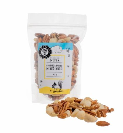 Roasted and salted mixed nuts from Cecilia's Farm  Shop online from www.ceciliasfarm.co.za/shop