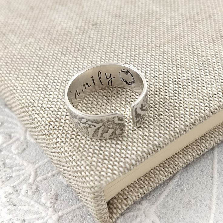 Personalised Sterling Silver Thumb Ring