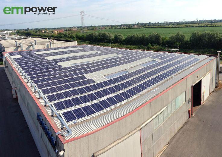 Installazione impianto fotovoltaico nel settore industriale
