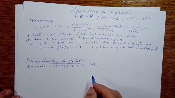 Proprietatile functiei de gradul I - Clasa a IX-a - 090402-01