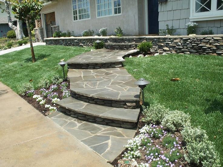 how to build a stone sidewalk
