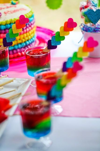 Awesome drinks at a My Little Pony Rainbow girl Birthday Party!  See more party ideas at CatchMyParty.com!