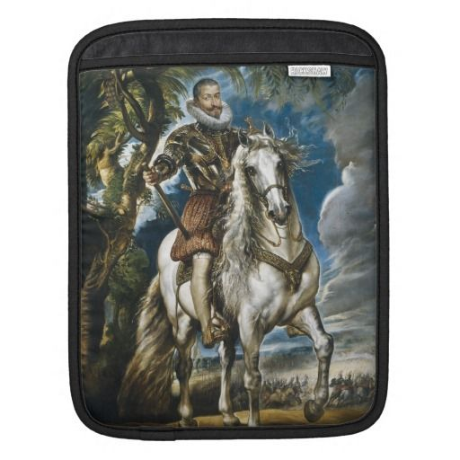 Equestrian Portrait of the Duke of Lerma Rubens Sleeves For iPads