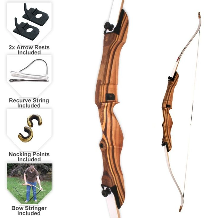 "Core Pulse 66"" Take Down Recurve Bow"