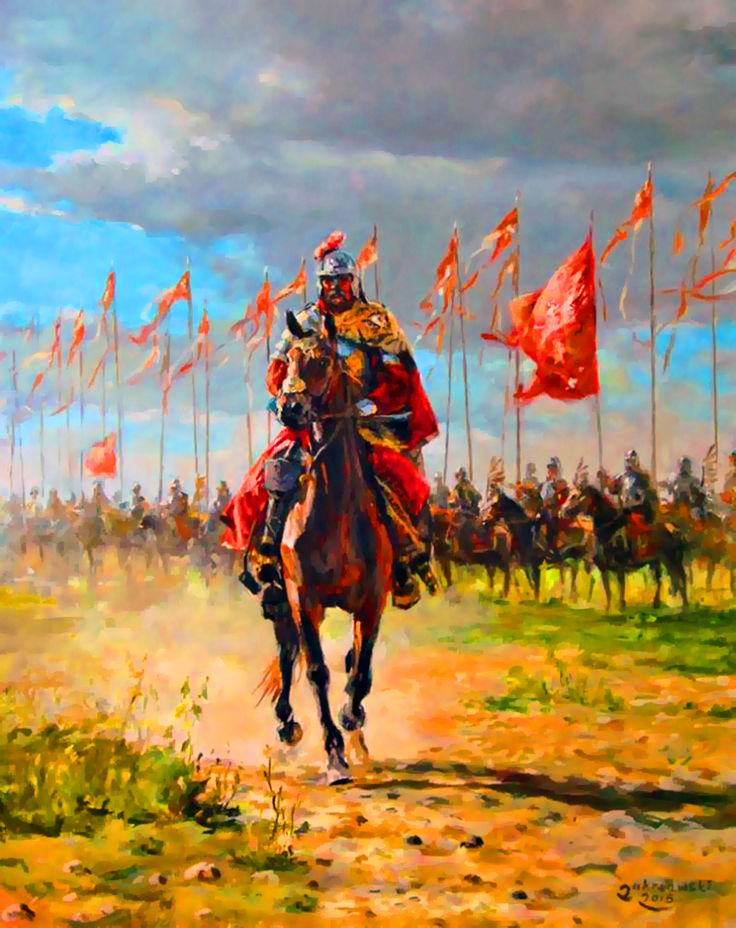 Polish Winged Hussar preparing to charge