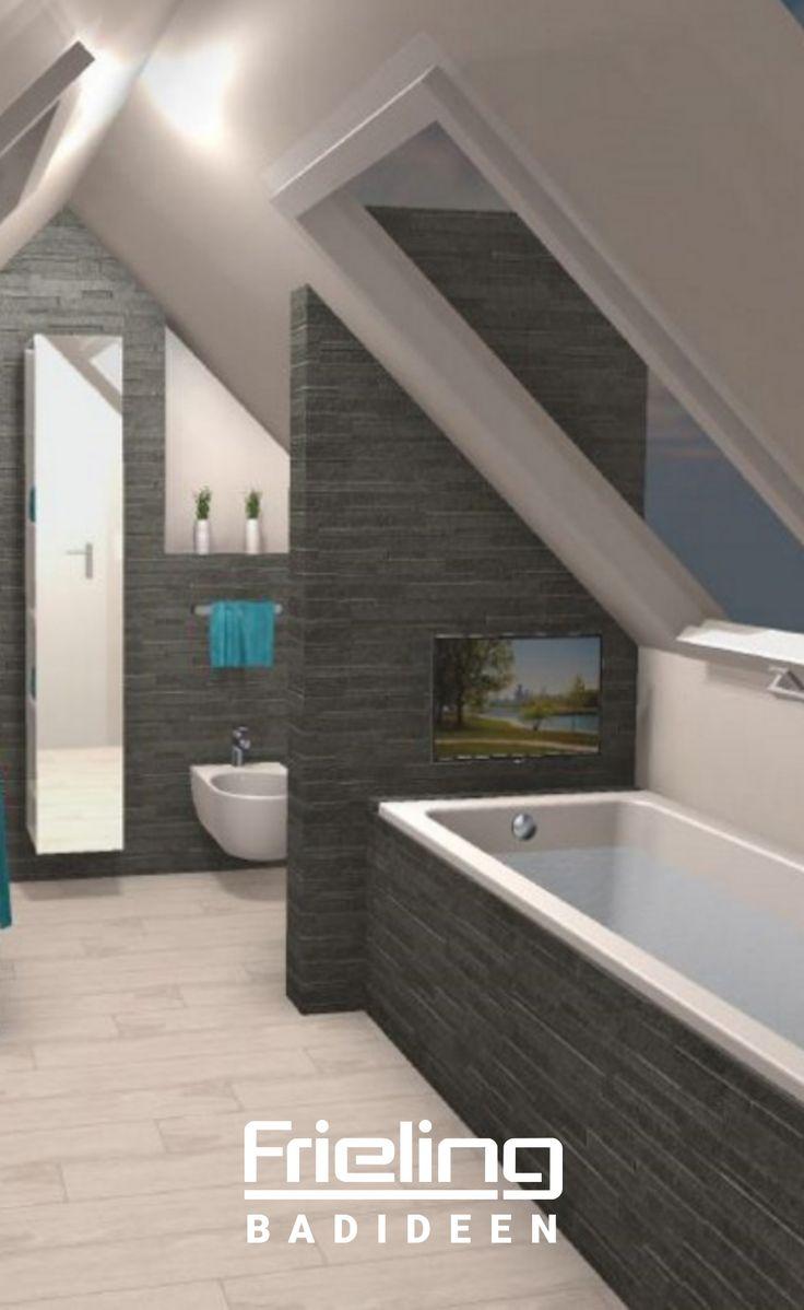 Nutzen Sie Schrägen richtig   Dachausbau Badezimmer mit Trennwand ...