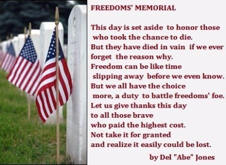 memorial day poems thank you