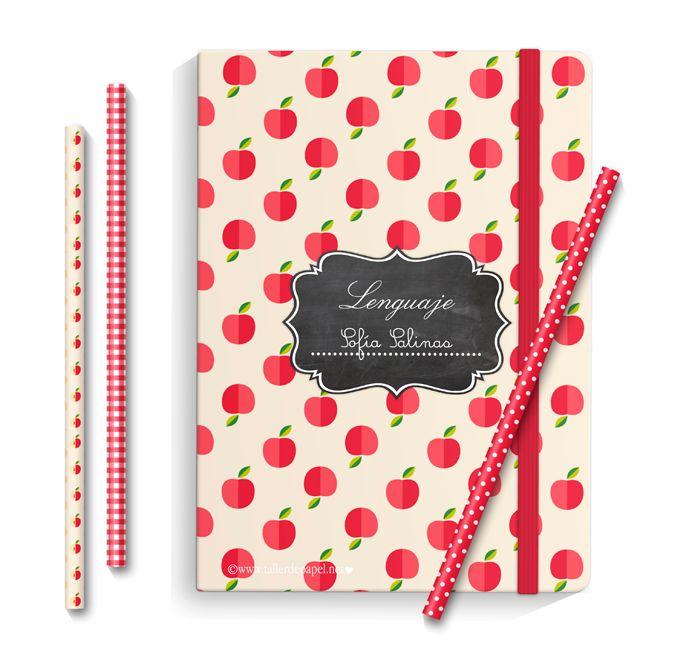 De vuelta al Colegio! Etiquetas + papeles digitales para forrar y decorar muy lindos los cuadernos!