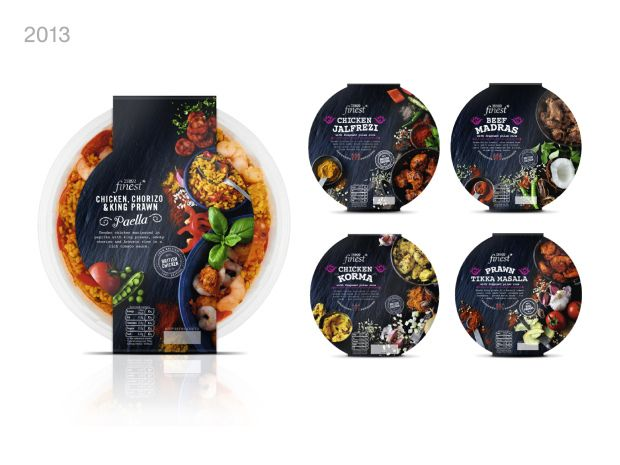 Tesco Finest ready meals #packaging