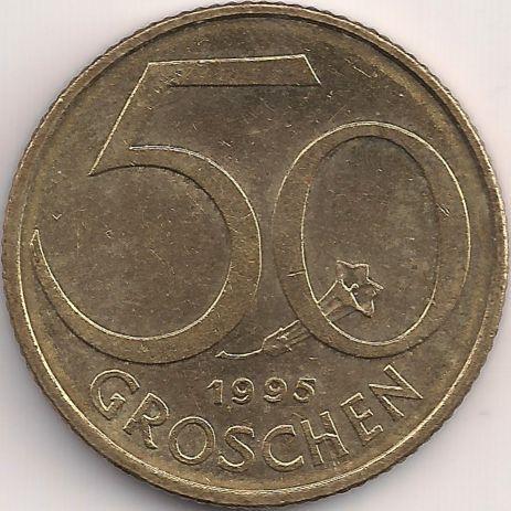 Wertseite: Münze-Europa-Mitteleuropa-Österreich-Schilling-0.50-1959-2001