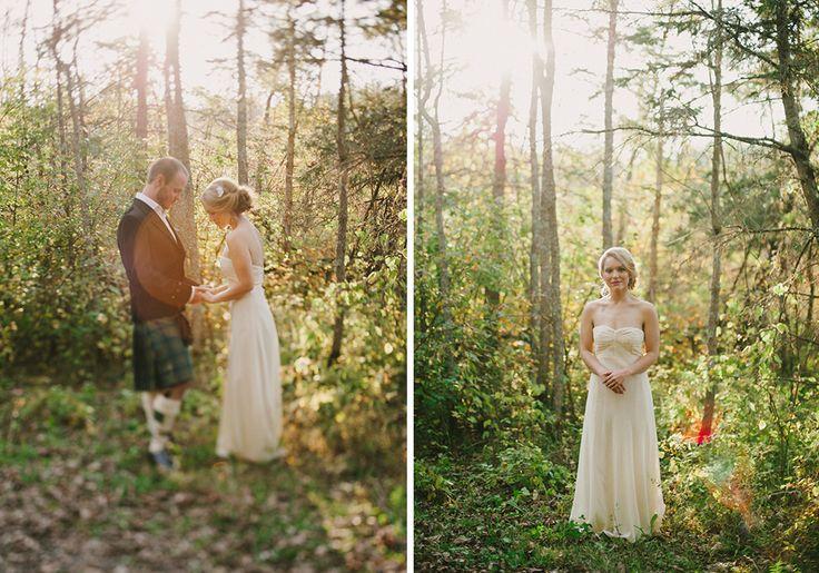 nicole   rory // intimate forest wedding, kingston wedding photographer