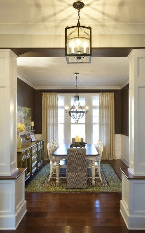 Formal Dining Room - drapes complete the feel
