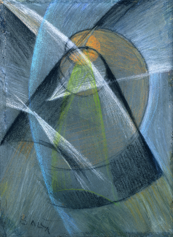 Giacomo Balla(Italian, 1871-1958)  Mercury Passes in Front of the Sun, 1914    Kröller-Müller Museum, Otterlo, Nederlands