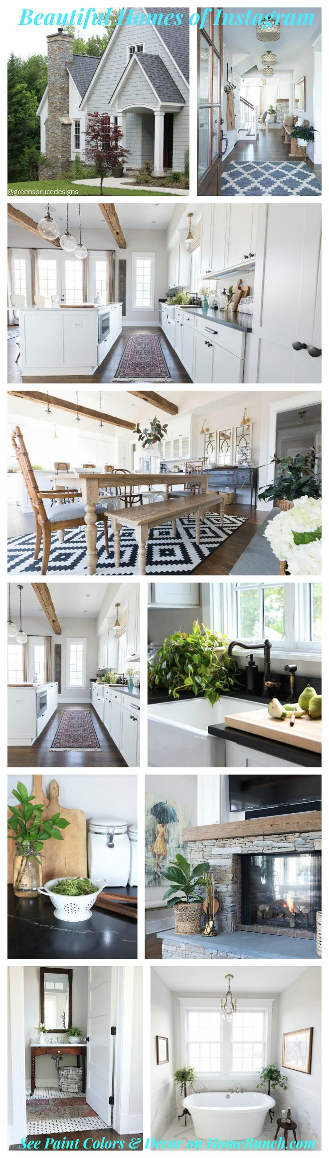 Beautiful Homes of Instagram. A weekly series on Home Bunch featuring beautiful and real homes on Instagram.