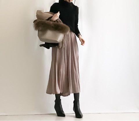 【coordinate】UNIQLOカシミヤセーター×プリーツスカンツ/セレモニースーツ の画像|Umy's プチプラmixで大人のキレイめファッション
