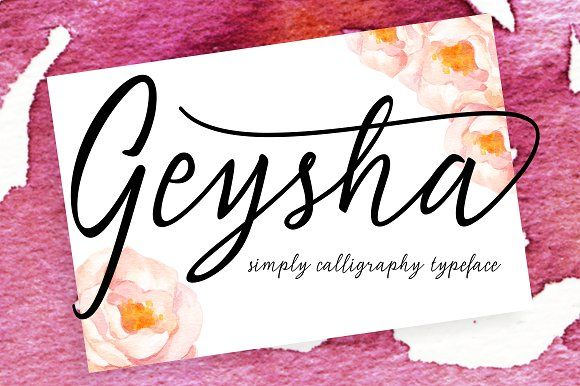 Geysha Script by Decavantona on @creativemarket