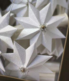 glitzernde Stern Anhänger aus Papier selber machen